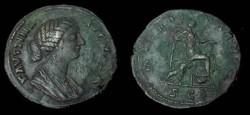 Ancient Coins - Faustina Jr Æ Sestertius.