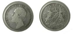 """World Coins - Sweden 2 Kroner 1880 """"OCH"""""""