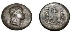 Ancient Coins - Bactraia Euthydemos II Ca 190-171BC Nickel Di-Drachm S-7540 M.118