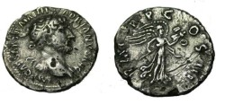 Ancient Coins - Hadrian 96-138AD AR Denarius Fouree