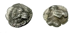 Ancient Coins - Persis Pakur 1st century AD AR Obol S# 5945