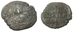 Ancient Coins - Leo VI 886-912 AD Constntinople AE Follis S-1729