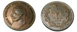 World Coins - 1858 1 Ore KM 687