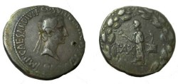 Ancient Coins - Octavian  AR Cistopgorus 27 BC - 14 AD 11.5 gm