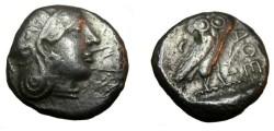 Ancient Coins - Babylonia - Babylon before 305 BC AR Tetradrachm Athenia Style