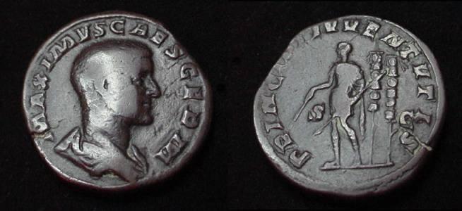 Ancient Coins - Maximus, as Caesar, Æ Sestertius.