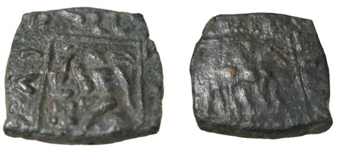 Ancient Coins - Indo Skythians Azilses Ca 57-35BC AE 1/2 Unit Senior 59.1a