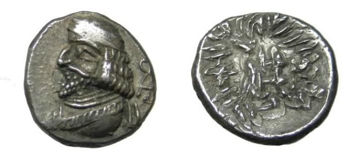Ancient Coins - Persis Oxathres Ca 50-1 BC AR Hemi- Drachm