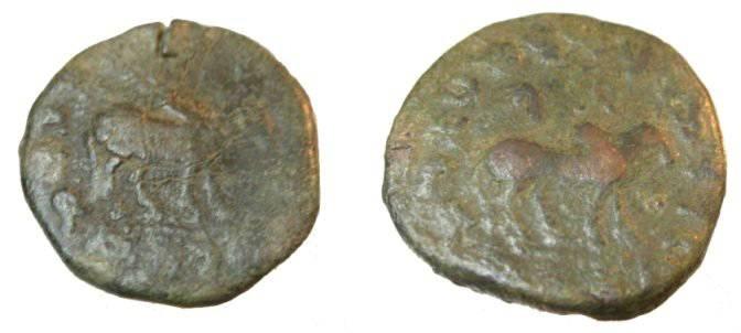 Ancient Coins - Indo - Skythians Azes I Ca. 57-35 BC AE Deca-Chalkon Hazara
