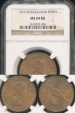 World Coins - New Zealand, 1953 One Penny, Elizabeth II - NGC MS64RB
