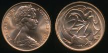 World Coins - Australia, 1983 Two Cents, 2c, Elizabeth II - Uncirculated