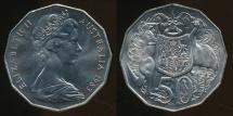 World Coins - Australia, 1983 Fifty Cents, 50c, Elizabeth II - Uncirculated
