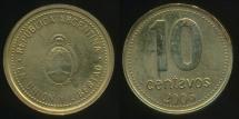 World Coins - Argentina, Republic, 2006 10 Centavos - Uncirculated