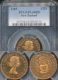 World Coins - New Zealand, 1965 Halfpenny, Elizabeth II - PCGS PL64RD