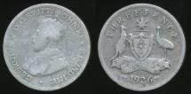 World Coins - Australia, 1926 Threepence, 3d, George V (Silver) - Good