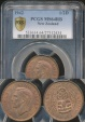 World Coins - New Zealand, 1942 Halfpenny, George VI - PCGS MS64RB
