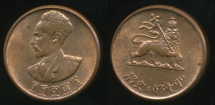 World Coins - Ethiopia, Empire of Ethiopia, Haile Selassie I, 1936 (1943-44) 1 Cent - Uncirculated