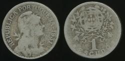 World Coins - Portugal, Republic, 1931 Escudo - Poor