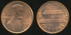 World Coins - United States, 1979-D One Cent, 1c, Lincoln Memorial - Uncirculated