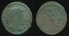 Ancient Coins - CONSTANTINE I, AE-Follis, AD 306-337 (20mm, 2.28 gm) London mint, Struck AD 323-324, RIC VII 290