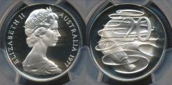 World Coins - Australia, 1977 Twenty Cents, 20c, Elizabeth II - PCGS PR69DCAM (Proof)