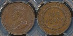 World Coins - Australia, 1934(m) One Penny, 1d, George V - PCGS MS63BN (Ch-Unc)