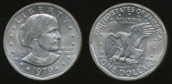 World Coins - United States, 1979-P Susan B. Anthony Dollar, $1 - Choice Uncirculated