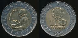 World Coins - Portugal, Republic, 1998 100 Escudos - Uncirculated