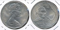 World Coins - Australia, 1970 Fifty Cents, 50c, Elizabeth II (Captain Cook) - Uncirculated