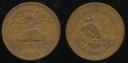 World Coins - Mexico, United States, 1946 20 Centavos - Very Fine