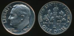 World Coins - United States, 1977-S Dime, Roosevelt - Proof