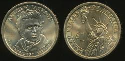 World Coins - United States, 2008-P Andrew Jackson Presidential Dollar, $1 - Uncirculated