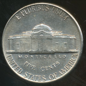 World Coins - United States, 1954-D 5 Cents, Jefferson Nickel - Uncirculated
