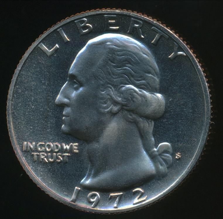 United States, 1972-S Quarter, 1/4 Dollar, Washington - Proof