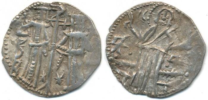 Ancient Coins - BULGARIA. Empire, Ivan Alexander and Mikhail Asen, AR Grosh, AD 1331-1371, (21mm, 1.54g) - Your.74-80