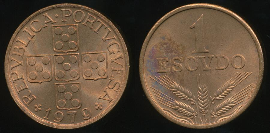 World Coins - Portugal, Republic, 1979 1 Escudo - Uncirculated