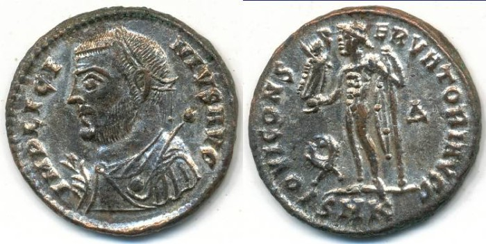 Ancient Coins - LICINIUS I, AE-Follis, AD 308-324, Cyzicus mint, (18mm, 3.02 g) - RIC VII, 9