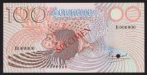 World Coins - Seychelles, 1980 100 Rupees, Specimen Banknote - Uncirculated