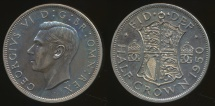 World Coins - Great Britain, Kingdom, 1950 1/2 Crown, George VI - Proof