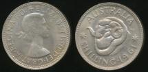World Coins - Australia, 1961 One Shilling, Elizabeth II (Silver) - Uncirculated