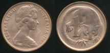 World Coins - Australia, 1969 1 Cent, Elizabeth II - Uncirculated