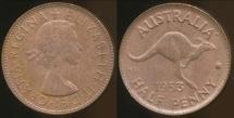 World Coins - Australia, 1953(p) Halfpenny, Elizabeth II - Uncirculated