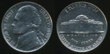 World Coins - United States, 1995-D 5 Cents, Jefferson Nickel - Uncirculated
