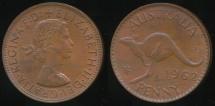 World Coins - Australia, 1962(p) One Penny, 1d, Elizabeth II - Uncirculated