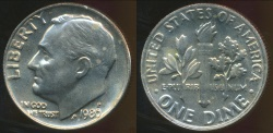 World Coins - United States, 1980 Dime, Roosevelt - Uncirculated