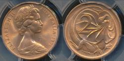 World Coins - Australia, 1971 Two Cent, 2c, Elizabeth II - PCGS MS65RD (Gem Unc)