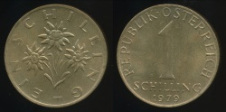 World Coins - Austria, Republic, 1979 1 Schilling - Uncirculated