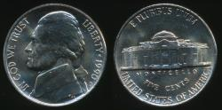 World Coins - United States, 1990-D 5 Cents, Jefferson Nickel - Uncirculated