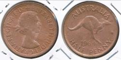 World Coins - Australia, 1964(p) Halfpenny, 1/2d, Elizabeth II - Choice Uncirculated