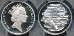 World Coins - Australia, 1998 Twenty Cents, 20c, Elizabeth II - PCGS PR69DCAM (Proof)